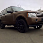 Wrapping range Rover marrone